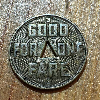 Vintage 1922 Pittsburgh Railways Co. Transit Token - Good For One Fare