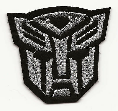 Transformers Silver Autobot Logo Embroidered Patch Iron-on Good Luck