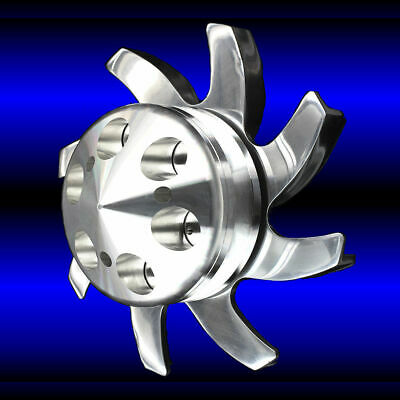 Billet Aluminum Alternator Fan and Pulley Fits Small Block Chevy 327 350 383 400