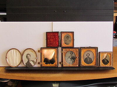 collection of ambrotype photographs