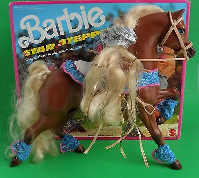 VINTAGE 1991 BARBIE DOLL STAR STEPPER REEBOK DREAM HORSE COLLECTION HORSE w BOX