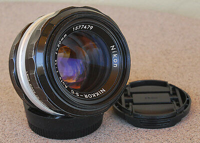 Nikon Nikkor 50mm F1.4 S C Manual focus Lens Vintage 1974