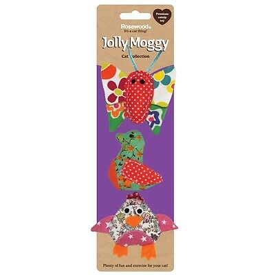 Rosewood Jolly Moggy Patchwork Trio Cat Toy Brand New