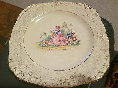 H&K TUNSTALL Crinoline Lady Plate 20cm. Made in England.