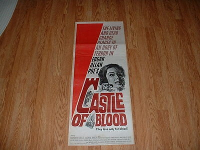Castle Of Blood-Barbara Steele-1964-  Insert Poster