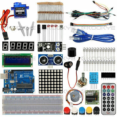 Arduino Starter Kit with UNO R3 Board LCD Various Sensor for Projects USA