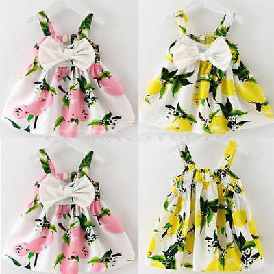 Cute 1pcs Newborn Infant Baby Girl Sleeveless Dress Toddler Floral Party Clothes