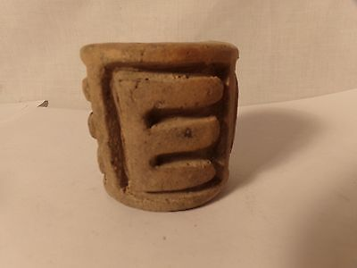 Pre Columbian Pottery-Olmec Pottery Seal-Mexico(1150-550 Bc)Rolling Seal-2In-#6