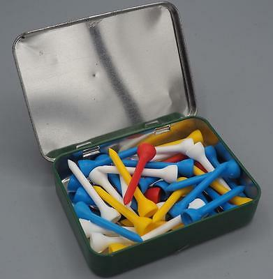 Golfers Gift Tin Of Tees Plastic