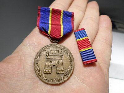 Spanish American War US Army Occupation of Porto Rico Puerto Campaign Medal #ED