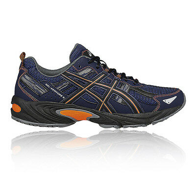 Asics Venture 5 Mens Navy Blue Trail Running Training Shoes Trainers Pumps