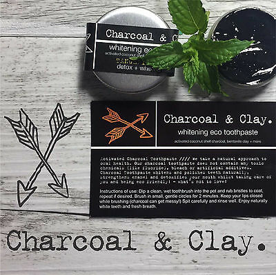 CHARCOAL TOOTHPASTE  Natural whitening 4 FLAVORS TANGERINE LEMON essential oil