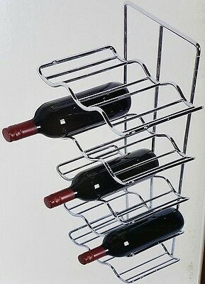 Chrome 15 Bottle Wine Rack Hafele Home Install into Cabinets/Panels RRP $199 NEW