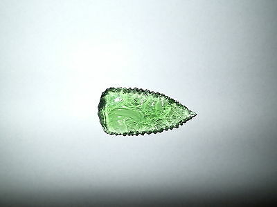 Old Archaic Antique Aboriginal Artefact green glass kimberley spear point 2 of 3