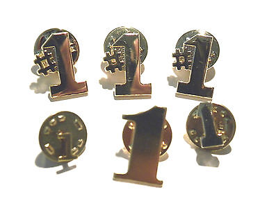 Lot Of 6 Gold #1 Numeral Collector Pins