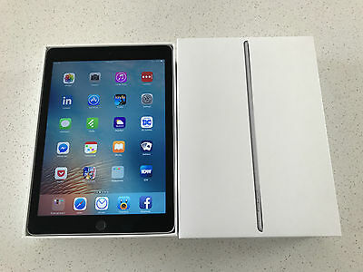 Apple iPad Air 2 64GB Bundle, Wi-Fi, 9.7in - Space Grey, Red Cover, Like New