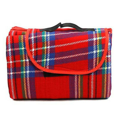 200x150cm Waterproof Rug Blanket Outdoor Camping Mat Plaid Red CT1 CT