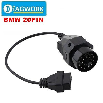 New 20Pin To 16Pin OBD1 to OBD2 Connect Cable for BMW Cars Diagnostic Adapter