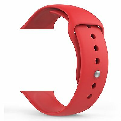 MoKo Apple Red Watch Band Soft Silicone Replacement Sports Band 38mm