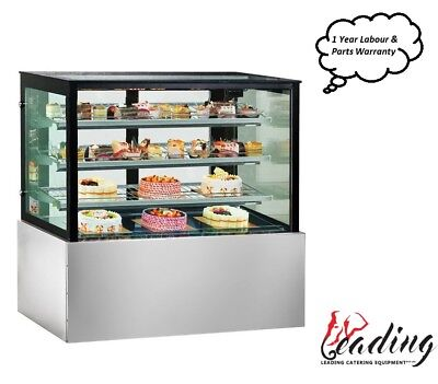 NEW Commercial Refrigerated Chilled Cold Cake Food Display Fridge 1200mmW Cafe