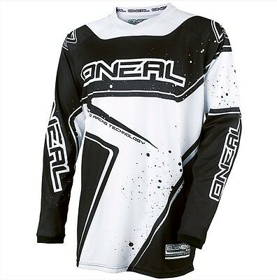 Oneal 2017 Element Black/white Motocross Mx Jersey Adult