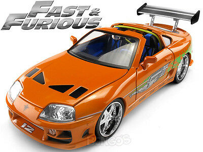 """""""Fast and Furious"""" Brian's Toyota Supra 1:18 Scale Diecast Model"""
