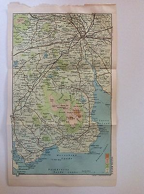 Scotland, Dumfries 1908 Antique Map, Bartholomew, Maxwelltown Almorness Lochaber