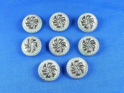 "Vintage Authentic Czech Glass Buttons - ( 8 pcs ) - 22mm - 7/8"" - 259"