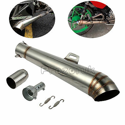 Universal Stainless 38-51mm Motorcycle GP Slip-On Exhaust Muffler Silencer Pipe