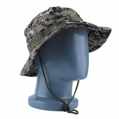 Military Army Jungle Camo Boonie Bucket Cap Hat Fishing Camping Hiking OG