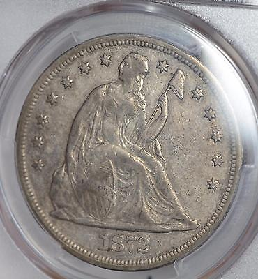 1872 Seated Liberty Silver Dollar $1 Pcgs Vf 30 Nice Original Xf Quality Coin
