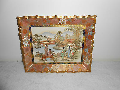Satsuma Fine Decorative Rectangular  Plaque