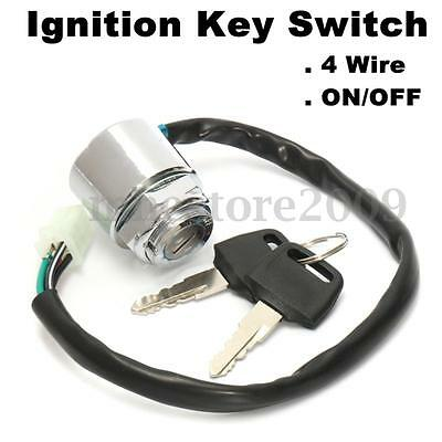 4 Wire ON OFF Ignition Key Switch ATV 50 70 90 110 125 150 200 cc Quad Wheeler
