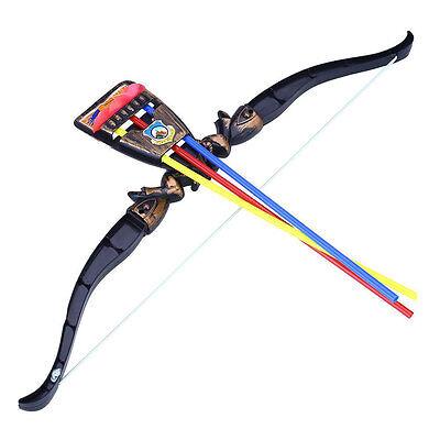 Child Archery Bow and 3 Arrows Suckers Outdoor Sports Kids Shooting Toys