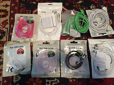 Joblot usb cables Iphone Ect