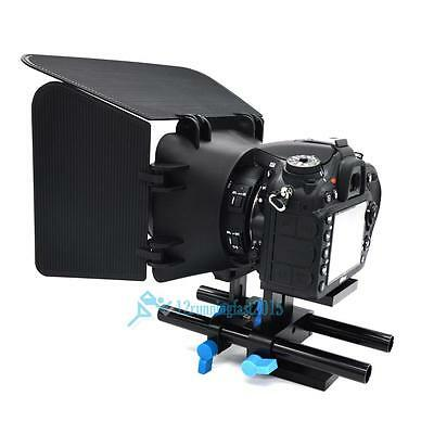 15mm Rail Rod Support System Baseplate Mount for Camera DSLR Follow Focus Rig