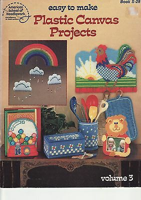 PLASTIC CANVAS BOOK - 'Easy to Make Projects'