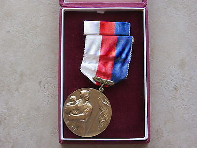 Czech Firefighting Medal: For Heroic Act, Bravery, Serial Numbered, In Box