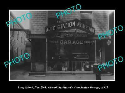 OLD LARGE HISTORIC PHOTO OF LONG ISLAND NEW YORK, THE STUDEBAKER CAR STORE c1915