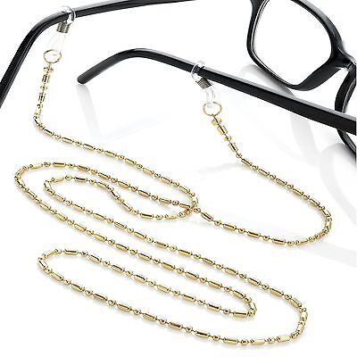 Gold Tone Glasses Spectacles Sunglasses Chain Strap An30569