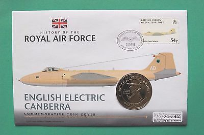 2008 History of the RAF Coin cover Canberra - Gibraltar Crown SNo43031
