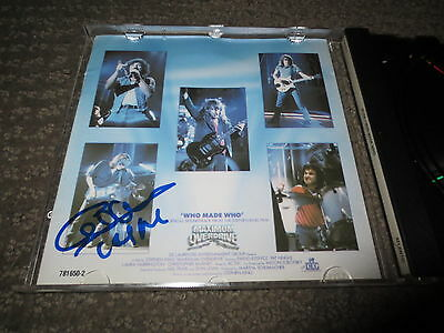 CLIFF WILLIAMS Signed AC/DC - WHO MADE WHO CD Booklet