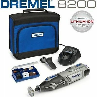 Dremel 8200 10.8V Cordless Rotary Tool plus 1 Attachment and 35 Accessories