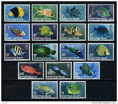 British Virgin Islands 1975 Fishes set of 17 MNH