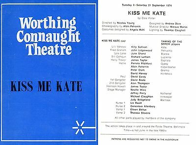 Kiss Me Kate Cole Porter 1974 Connaught Worthing David Cardy David Beale