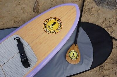 """10'6"""" SUP Board with Board bag, Leash, Fins, Deck pad and Carbon fibre paddle"""