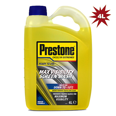 Prestone Screen Wash Concentrated All Seasons 4 Litre WORKS DOWN TO -10°C