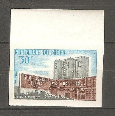 1966 NIGER #182 CEMENT SILOS INDUSTRY Imperf Proof MNH
