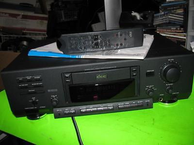 PHILIPS MODEL DCC-900 COMPONENT DIGITAL CASSETTE TAPE RECORDER with REMOTE