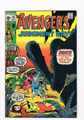 Avengers # 90 Judgement Day! Death Lies Waiting! grade 7.5 scarce book !!